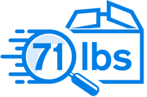 71lbs blue box
